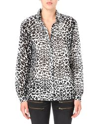 Maje Leopardprint Shirt - Lyst