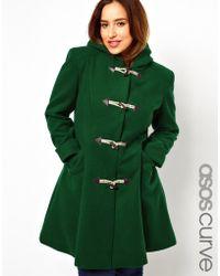ASOS - Exclusive Duffle Coat with Hood - Lyst