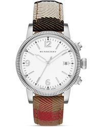 Burberry Utilitarian Stainless Steel & House Check Strap Watch - Lyst