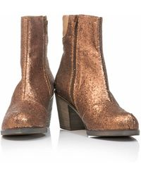 MM6 by Maison Martin Margiela Glitter Ankle Boots - Lyst