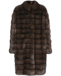 Manzoni 24 Barguzin Sable Fur Coat - Lyst