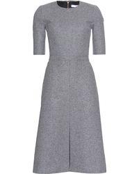 Victoria, Victoria Beckham Woolfelt Dress - Grey