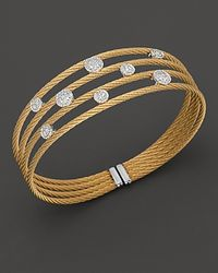 Charriol - Round Station Classique Diamond Cuff Bracelet - Lyst
