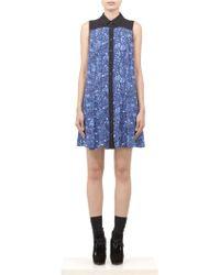 Proenza Schouler Printed Silk Sleeveless Shirt Dress - Lyst