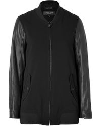 Rag & Bone Leather Sleeve Pacific Jacket In Black - Lyst