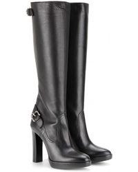 Burberry Brit - Jasper Leather Knee Boots - Lyst