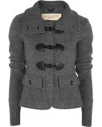 Burberry Brit - Duffle style Merino Wool Cardigan - Lyst