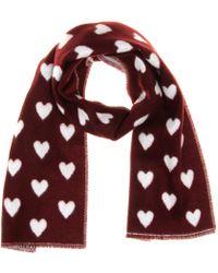 Burberry Prorsum - Hearts Jacquard Cashmere Scarf - Lyst