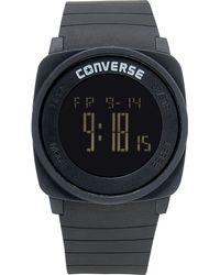 Converse - Unisex Digital Full Court Black Silicone Strap 45mm Vr034001 - Lyst