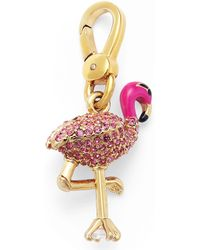 Juicy Couture - Goldtone Pink Pave Flamingo Charm - Lyst