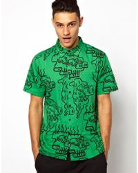 Lazy Oaf - Shirt with Weird Face Print - Lyst