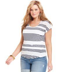 Lucky Brand Shortsleeve Striped Tee - Lyst