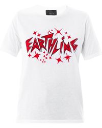 Lulu & Co - Earthling Slogan Cotton Tshirt - Lyst