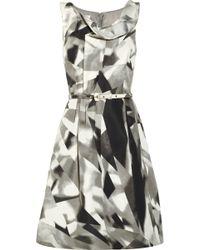 Oscar de la Renta Printed Silk faille Dress - Lyst
