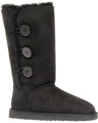 Ugg Bailey Button Triplet Sheepskin Boots Black - Lyst