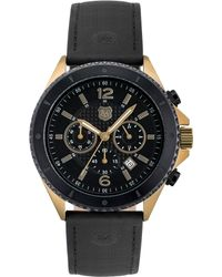 Andrew Marc - Mens Chronograph Black Leather Strap 46mm - Lyst