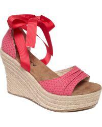 BEARPAW - Dahlia Espadrille Platform Wedge Sandals - Lyst