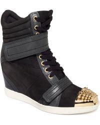 Boutique 9 Nevan 9 Wedge Sneakers - Black