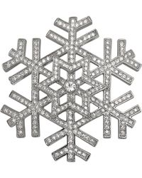 Carolee - Silvertone Snowflake Pin - Lyst