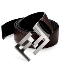 Fendi Reversible Skinny Belt - Lyst