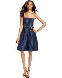 Js Boutique Strapless Sequined Cocktail Dress - Lyst