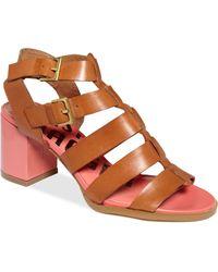 Kelsi Dagger Carmen Gladiator Mid Heel Sandals - Lyst