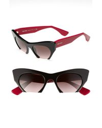 Miu Miu 50mm Cats Eye Sunglasses - Lyst