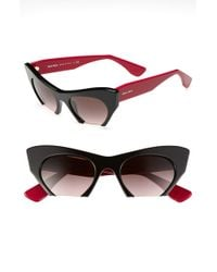 Miu Miu 50mm Cats Eye Sunglasses purple - Lyst