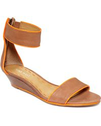 Nine West Vilta Demi Wedge Sandals - Lyst