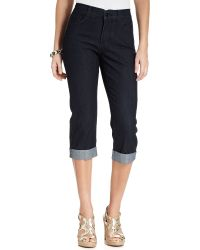 Multiple Sizes New Not Your Daughters Jeans NYDJ Nanette Crop Black Capris