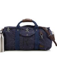 Ralph Lauren Firemans Canvas Duffel Bag - Blue