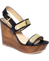 Report - Elaina Platform Wedge Sandals - Lyst