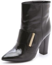 See By Chloé Chunky Heel Booties - Lyst
