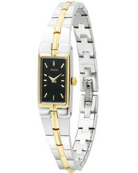 Seiko Womens Two Tone Stainless Steel Bracelet 14mm  - Lyst