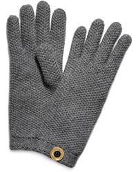 Tory Burch Moss Cashmere Stitch Glove - Grey