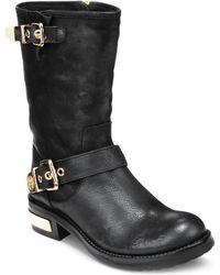 Vince Camuto Winchell Motorcycle Booties - Lyst