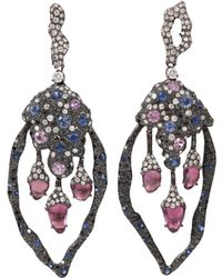 Arunashi - Sapphire and Diamond Earrings - Lyst