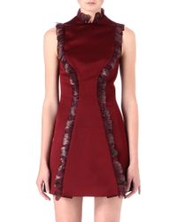 Christopher Kane Feathertrimmed Dress - Lyst