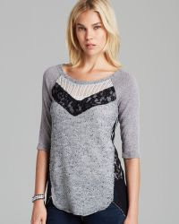 Free People Top Mix It Up Hacci - Lyst