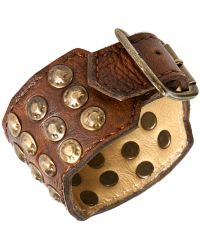 Frye - Leather Studded Cuff - Lyst