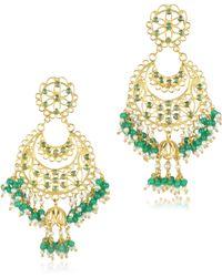 Isharya - Green Onyx Moon Bali Filigree - Lyst