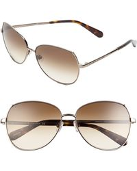 Kate Spade 'Candis' 58Mm Sunglasses - Almond Brown/ Cream - Lyst