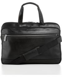 Kenneth Cole - 4 Vachetta Double Gusset Top Zip Portfolio Business Case - Lyst