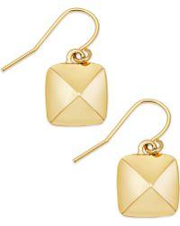 Lauren by Ralph Lauren - 14k Goldplated Pyramid Stud Drop Earrings - Lyst