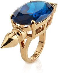 Mawi   Oval Crystal Spike Ring   Lyst