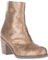 MM6 by Maison Martin Margiela Metallic Ankle Boot