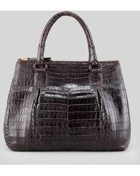 Nancy Gonzalez Small Executive Double-Zip Crocodile Tote Bag - Lyst