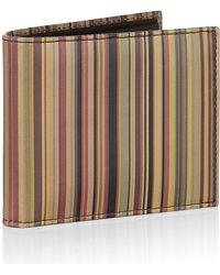 Paul Smith Vintage Multi Stripe Billfold Wallet - Lyst