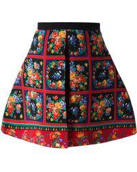 Caterina Gatta - Floral Print Pleated Skirt - Lyst