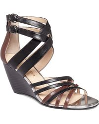 Enzo Angiolini Mezmerize Wedge Sandals - Lyst